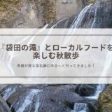 袋田の滝|ローカルフードを楽しむ秋散歩